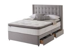 x1|Carpet Right Ex-Display 5ft Silentnight Symphony Divan Bed With Headboard & 2 Drawers|RRP £1429|