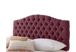 x1| Carpet Right Ex-Display 5ft Rest assured Hampton Headboard Damson|RRP £299|