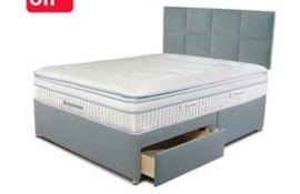 x1|Carpet Right Ex-Display 5ft Sleepeezee ComfortGel 1800 Divan Bed With Headboard & 4 Drawers|RRP £