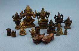 Konvolut (Miniatur-) Figuren, Asien