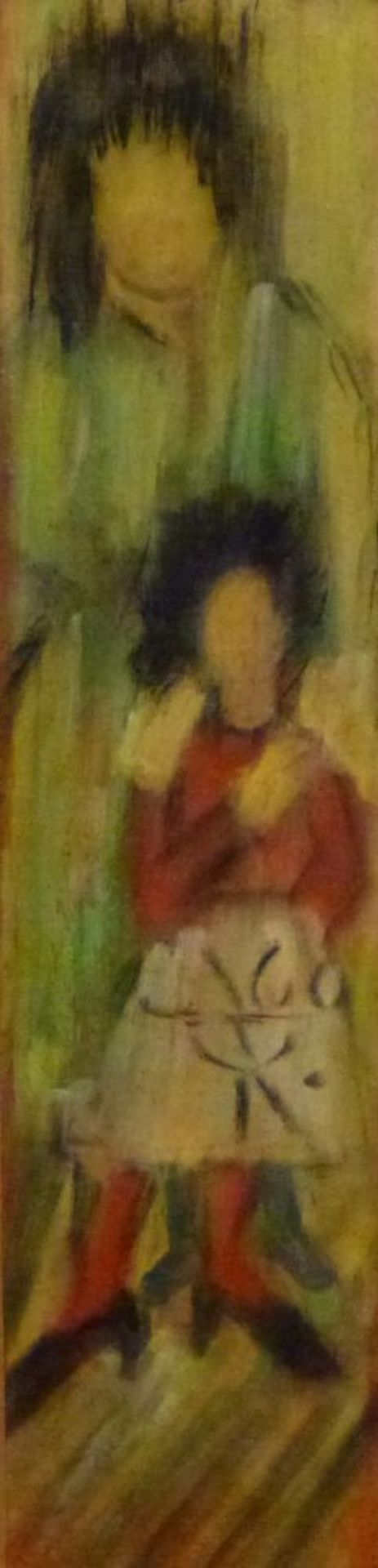 ''Erwartung'', Mitte 20.Jh.Hildegard KurpanTempera/Papier, monogr. u. dat. (19)60, Mutter mit