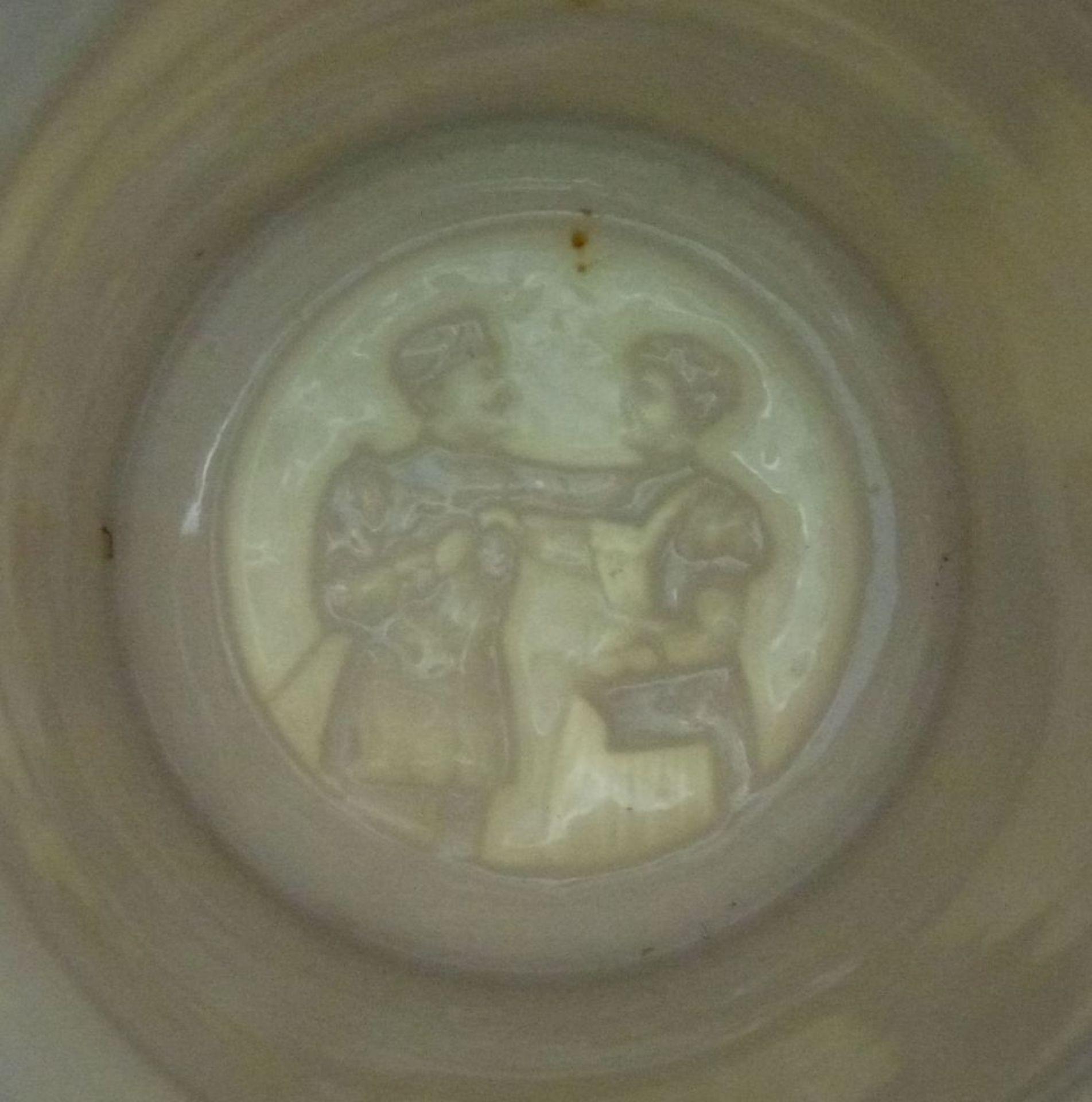 Reservistenhumpen und - Bild, 1909Kavallerie, Porzellan mit Lithophanie im Boden, bunte - Bild 2 aus 4
