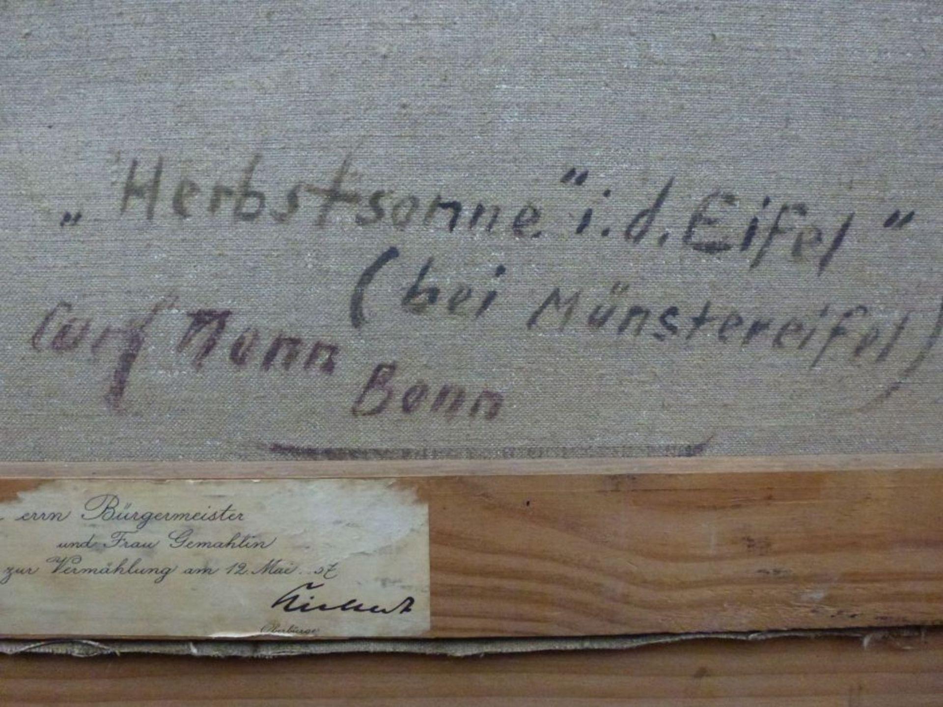 "Los 43 - ""Herbstsonne in der Eifel""Carl Nonn, 1876 - 1949Öl/LW, sign., rs. bez., Blick über Tal m."
