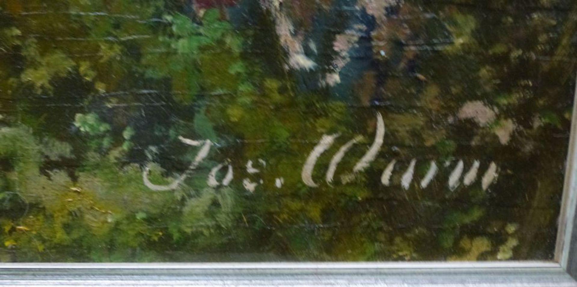 Golf von Neapel, Mitte 20.Jh.Öl/Platte, sign. Jos. Wurm, Neapel m. rauchendem Vesuv im HG, R, - Bild 3 aus 3