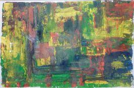 Farbkomposition, 1960/70er JahreÖl/Papier, R, 39x59 cm, beil. Grafik 27x61 cm