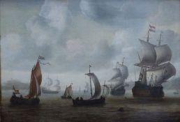 SeestückJacob Adriaensz (zugeschrieben) Bellevois, 1621 - 1675Öl/Lw, unsign., alt papierdoubl., alte