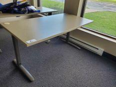 """30""""x60"""" Metal Leg Desk"""