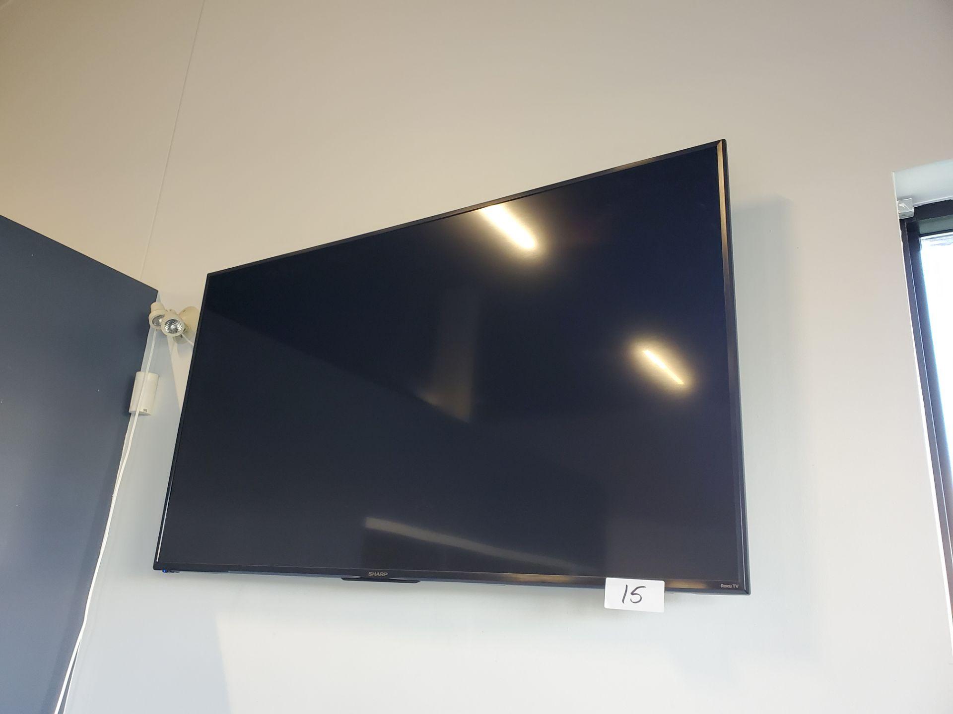 """Lot 15 - Sharp 65"""" Roku TV LC-65LBU591C"""