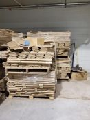 "(4) Pallets of 39.5"" Corner Boards"