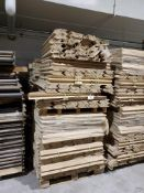 "(6) Pallets of 39.5"" Corner Boards"