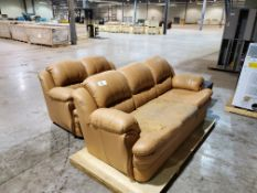 Faux Leather Sofa and Loveseat