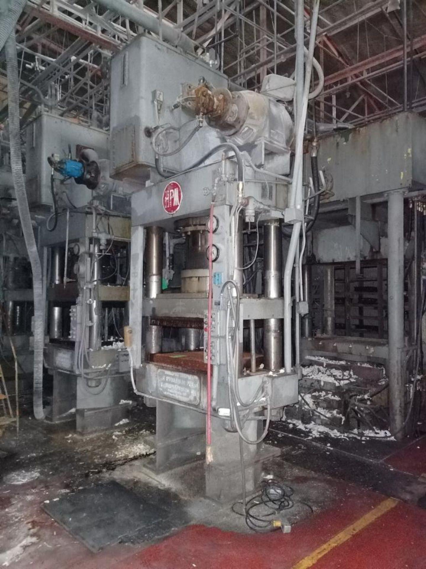 Lot 46 - HPM Mdl. HD400R38X30 400T 4-Post Compression Molding Press