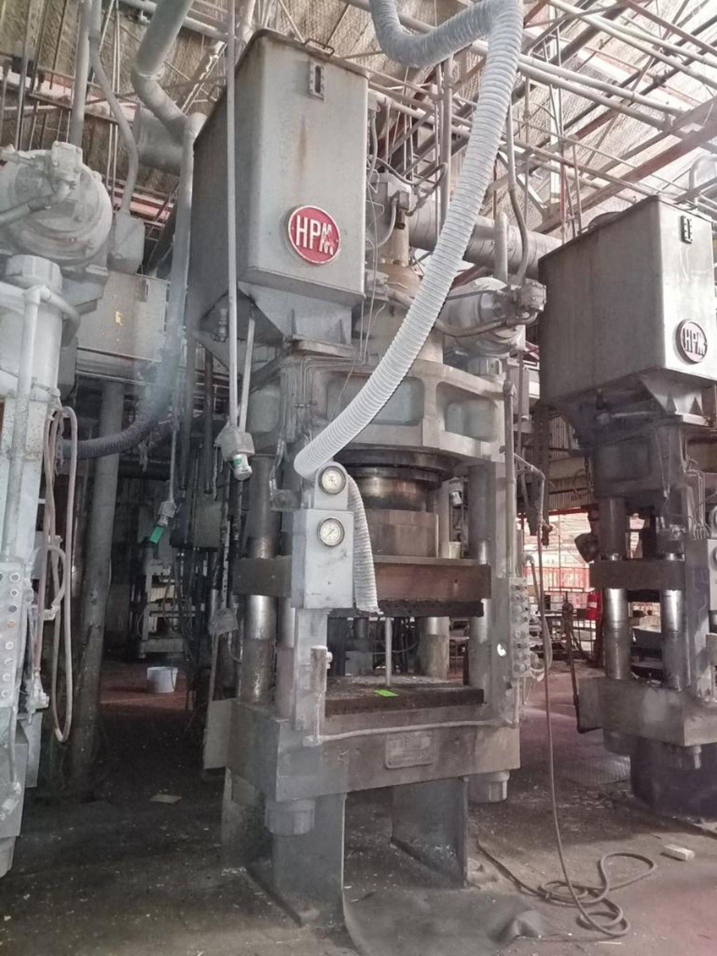 Lot 48 - HPM 500T 4-Post Compression Molding Press