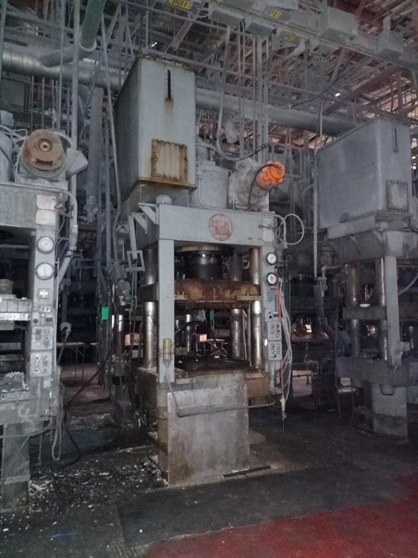 Lot 53 - HPM Mdl. HD400R38X30 400T 4-Post Compression Molding Press