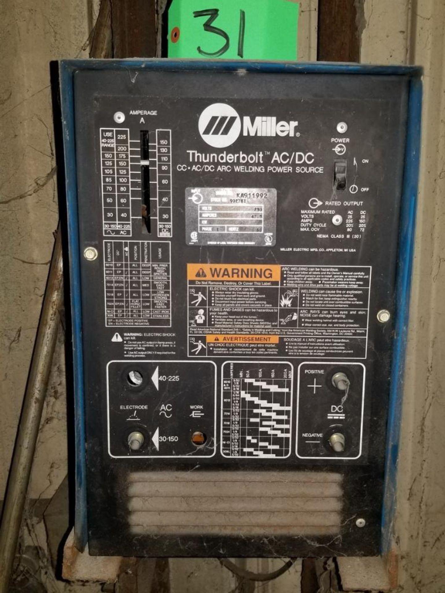 Lot 31 - Miller Mdl. Thunderbolt Welder