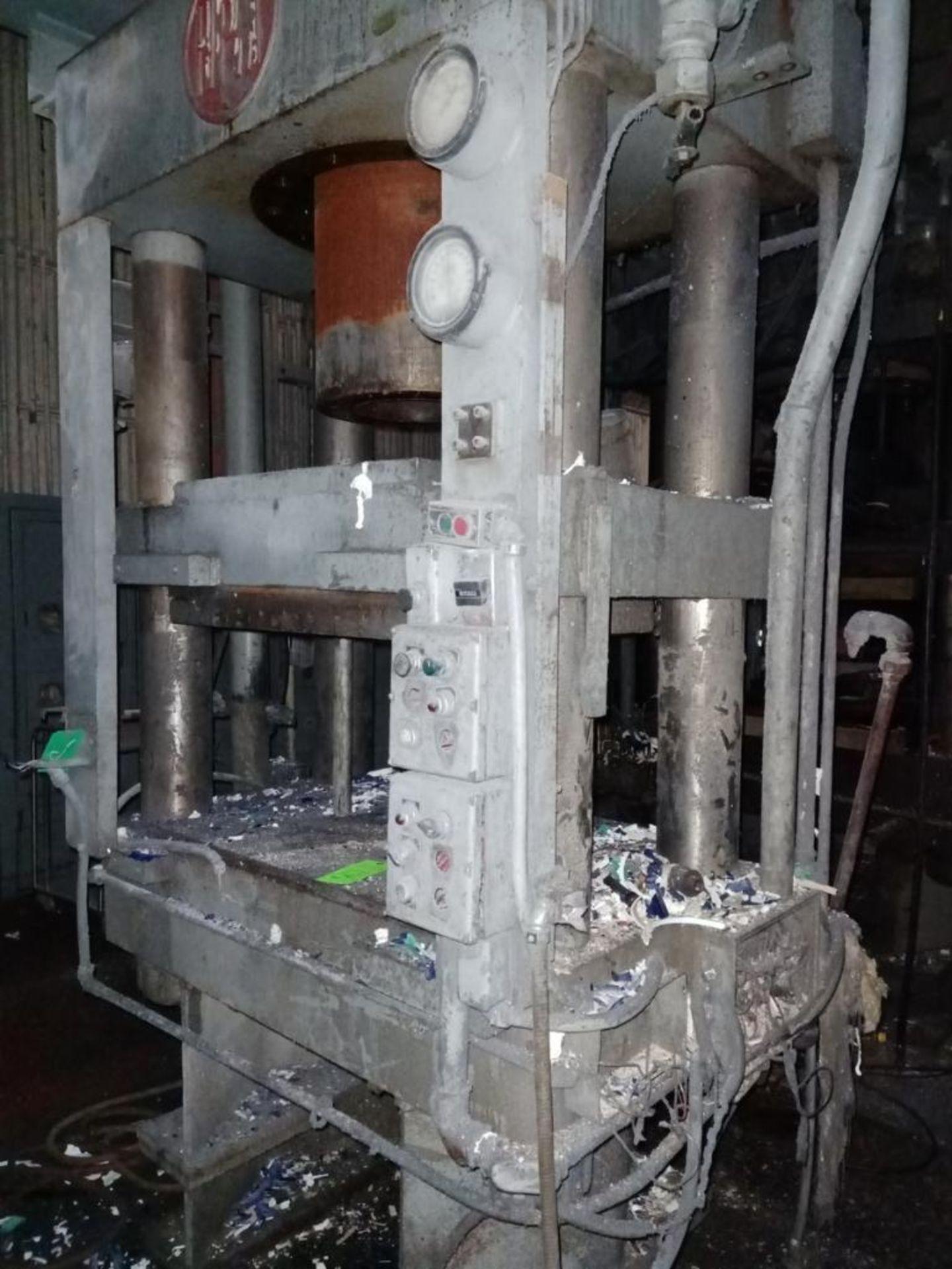 HPM Mdl. HD400R38X30 400T 4-Post Compression Molding Press - Image 5 of 6
