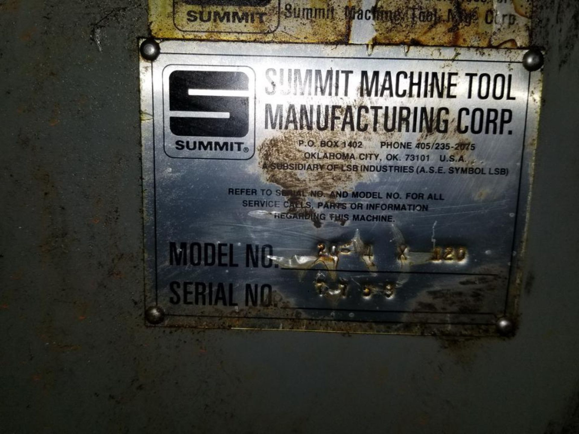 Lot 24 - Summit Mdl. 20 Lathe