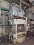Lawson 600T 4-Post compression molding Press