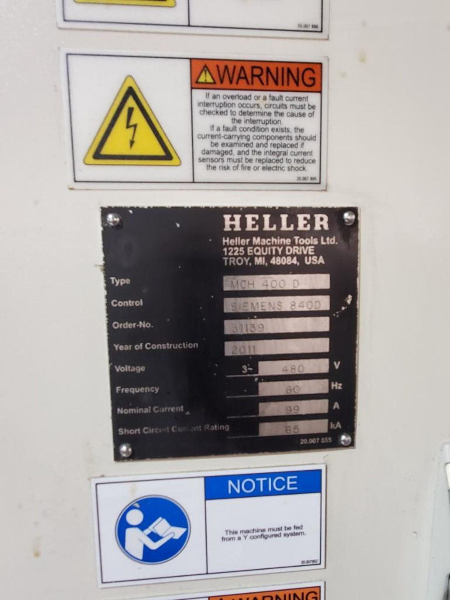 Lot 17 - 2011 Heller MCH 400D, Horizontal Machining Center