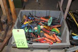 Lot of Hand Tools, Hex Keys, Picks
