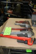 Lot of 5 Pipe Wrenches