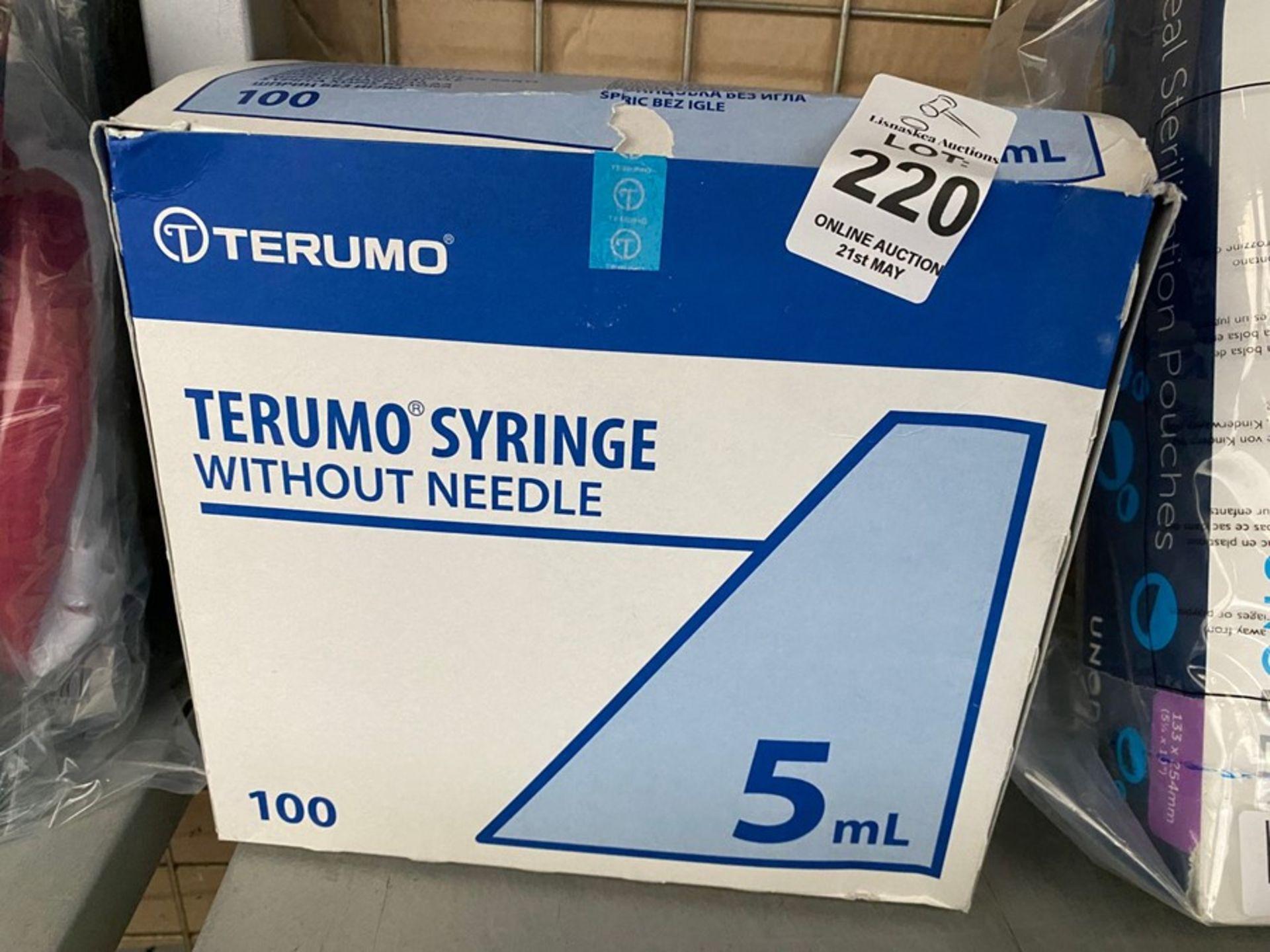 Lot 220 - TERUMO SYRINGES (5ML) WITHOUT NEEDLES