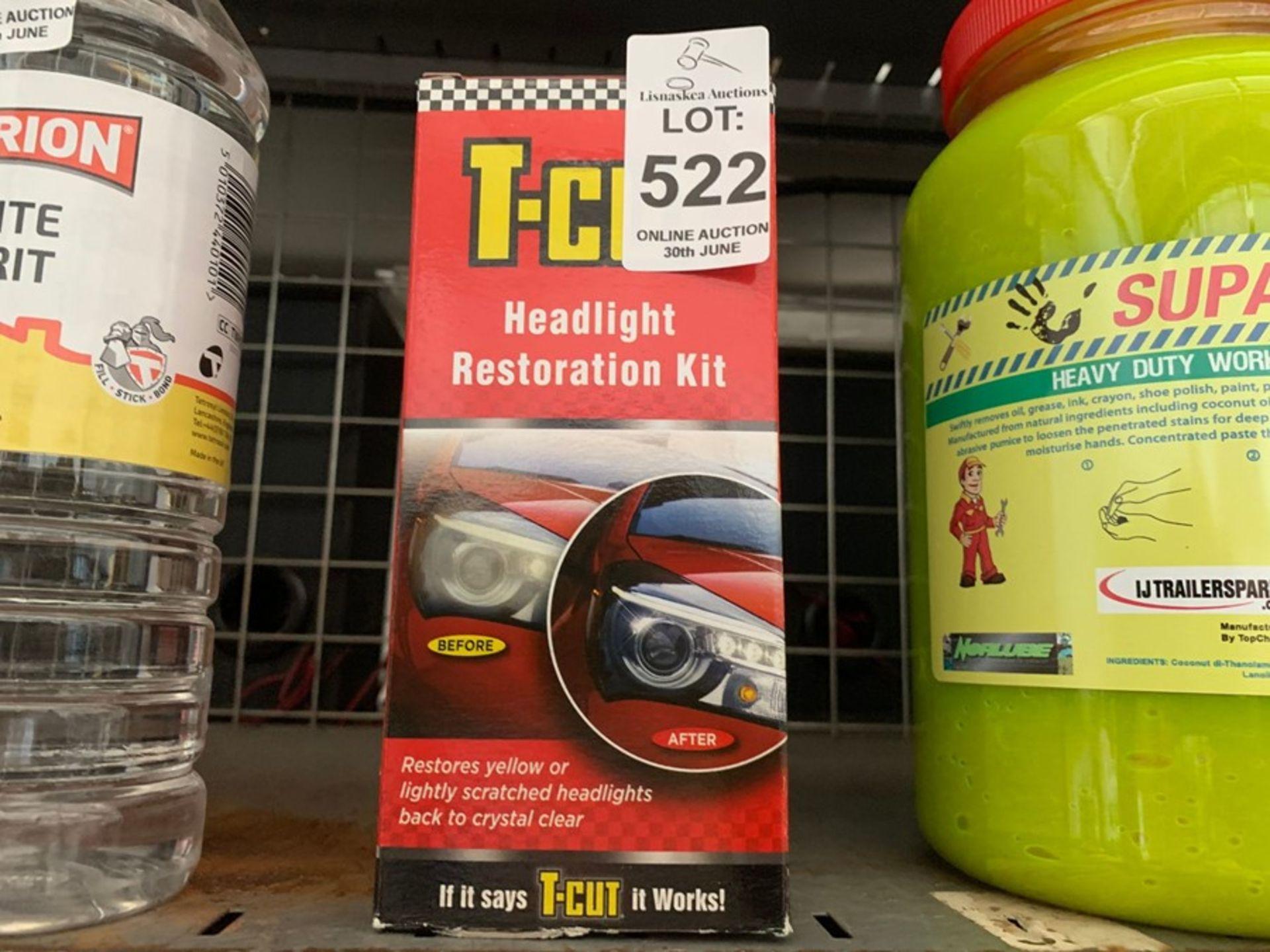 Lot 522 - T-CUT HEADLIGHT RESTORATION KIT