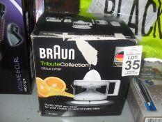 BRAUN CITRUS JUICER BOXED