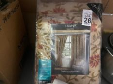"PAIR OF 90 X 54"" NEW LINED CURTAINS"