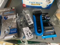 BRAUN COOLTEC ELECTRIC SHAVER AND NEW SHAVING HEAD (WORKING)