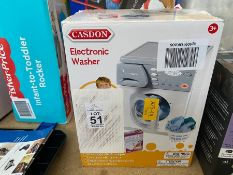 BOXED CASDON ELECTRONIC WASHER FOR KIDS