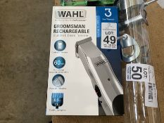 WAHL GROOMSMAN RECHARGEABLE BEARD TRIMMER BOXED (WORKING)