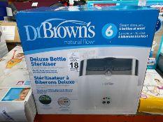 DR BROWN'S BOXED DELUXE BOTTLE STERILISER