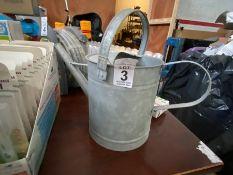 GALVANISED ZINC WATERING CAN