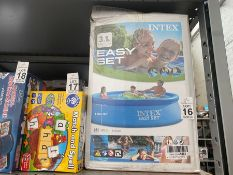 INTEX EASY SET PADDLING POOL BOXED