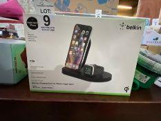 BELKIN WIRELESS CHARGING DOCK FOR IPHONE+APPLE WATCH