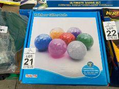 BOX OF RAINBOW GLITTER BALLS