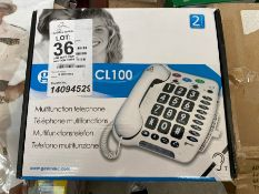 GEEMARC CL100 MULTIFUNCTION TELEPHONE BOXED