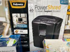 BOXED POWER SHRED OFFICE SHREDDER (WORKING)