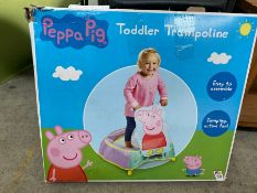 PEPPA PIG TODDLER TRAMPOLINE BOXED