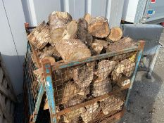 LARGE STEEL CRATE OF TIMBER (CRATE NOT INCLUDED)