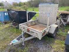 PIKE SINGLE AXLE GALVANISED TRAILER WITH RING HITCH (4.11FT X 4FT)