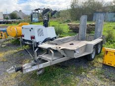 IFOR WILLIAMS TWIN AXLE PLANT TRAILER (9FT X 4.5FT)