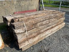 LOT OF 4 RAILWAY SLEEPERS