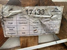 "CRATE OF 36X INDIAN GREY SANDBLASTED SANDSTONE (1PC 13.5 X 7.5"")"