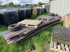 APPROX. 20 LENGTHS OF CORRUGATED ROOFING TIN