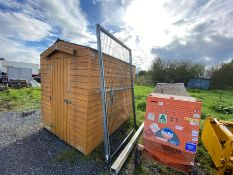 GALVANISED GATE & POST (8FT X 5FT GATE) (11FT POST)