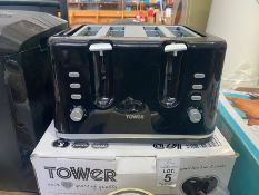 TOWER 4 SLICE TOASTER (WORKING)