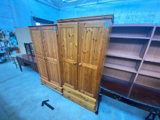PINE 2 DOOR 2 DRAWER WARDROBE
