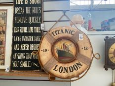 TITANIC WALL CLOCK (REPAIR NEEDED)